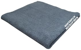 SOFTSPUN Microfiber Home, Kitchen & Bathroom Cleaning Towel Cloth - 30X30 cm - GREY -1Pc