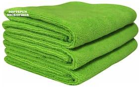 SOFTSPUN 340 GSM Microfiber Face Towel ( 3 Pieces , Green )