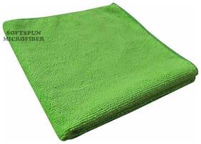 SOFTSPUN Microfiber Hand & Face Towel Wipes - 30X30 cm - GREEN -1Pc