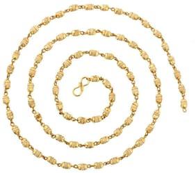 Soilmade White Tulsi Golden Cap Mala Garlands-Golden