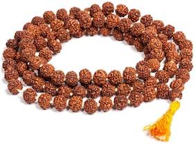 Soilmade Wood Garlands Rudraksha 108+1 Beads Rudraksh Mala