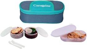 Carrolite 3 Containers Plastic Lunch Box - Assorted