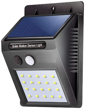 Solar Wireless Security Motion Sensor LED Night Light (Black)