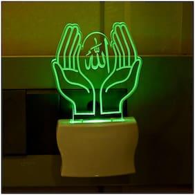 Somil 3D Illusion Effect Pray Alla LED Night Lamp