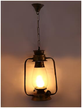 Somil Antique Pendant Hanging Lantern Lamp Light With Colorful Glass Perfect Match Of Trading And Traditional A12