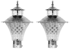 Somil Attractive & Stylish Designer Long Life Gate Light (Set Of Two )CX44