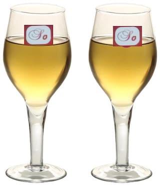 Somil Bavrage Tumbler Multi Purpose Wine Glass Transparet & Self Designer Set Of 2 Stylish Glass -WI24