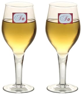 Somil Bavrage Tumbler Multi Purpose Wine Glass Transparet & Self Designer Set Of 2 Stylish Glass -WI24