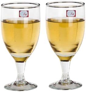 Somil Bavrage Tumbler Multi Purpose Wine Glass Transparet & Self Designer Set Of 2 Stylish Glass -WI27