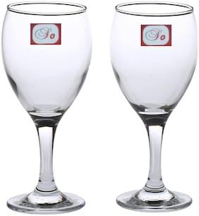 Somil Bavrage Tumbler Multi Purpose Wine Glass Transparet & Self Designer Set Of 2 Stylish Glass -WI22
