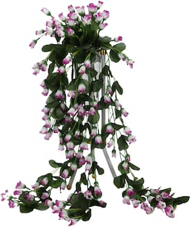 Somil Beautiful Attractive Flowers Shade With Green Leaves Of Fabric Decorative & Giftable (Sign Of Love Care & Peace)