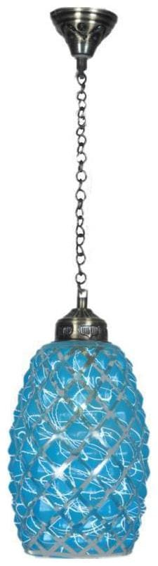 Somil Central and Corner Hanging Pendant Ceiling Light Lamp With Colorful Glass Shade