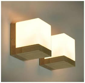 Somil Glass Modern White Wall Lamps ( Set Of 2 )