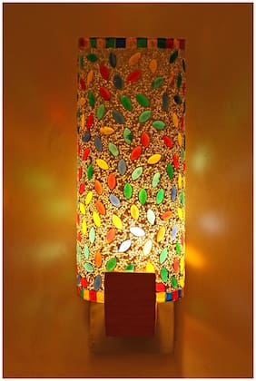 Somil New Design Glass Round Ceiling Lamp Hand Decorative With Colorful Chips & Beads