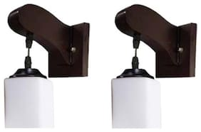 Somil Decorative Stylish Colorful Sconce Wall Lamp/ Light With Quality Wooden Fitting And Hand Decorative Glass Shade