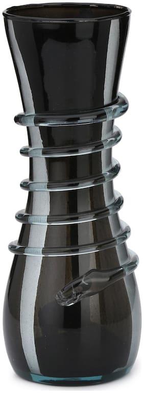 Somil Designer Black Glass Flower Vase Hand Decorative With New Stylish