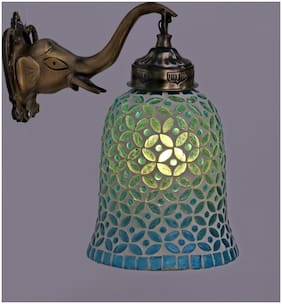Somil Designer Wall Lamp Light With Hand Decorated Glass Ornaments With Colorfull Chips & Beeds For Magicel & Romantic In Effect-Ew34