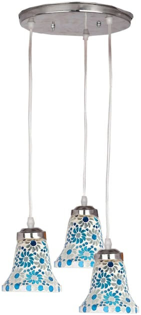 Somil Designer Pendant Hanging Ceiling Lamp With Three Hanging Decorative Glass And All Fitting And Fixture (Bulbe Not Include) No xc24