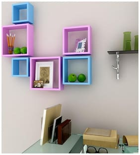Somil Designer Decorative Useful Square Wall Shelf-WS20