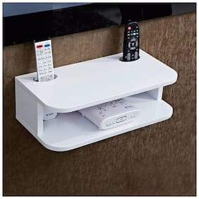 Somil Designer Setup Box wall Rack With two Remote Stand-Ws28