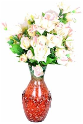Somil Designer Hand Decorative Glass Table Top Flower Pot Vase In New Shape Art -H12