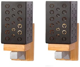 Somil Designer Wooden Wall Lamp (Set Of 2)- AA36