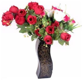Somil Designer Hand Decorative Glass Table Top Flower Pot Vase In New Shape Art -H24