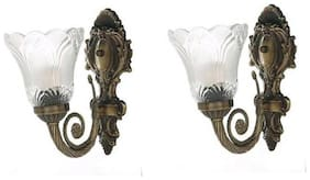Somil Designer Hand Decoraive Colorful Sconce Glass Wall Lamp Light(Set Of Two) DX019