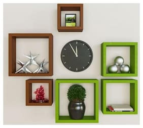 Somil Designer Decorative Useful Square Wall Shelf-WS02
