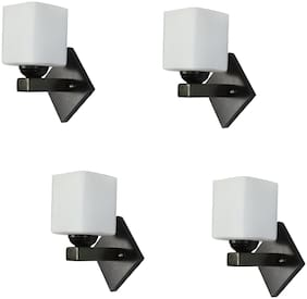 Somil Fancy Designed Decorative LED Wall Lamp/ Light;7 Watt;Glass;white;Wood (Set Of Four)