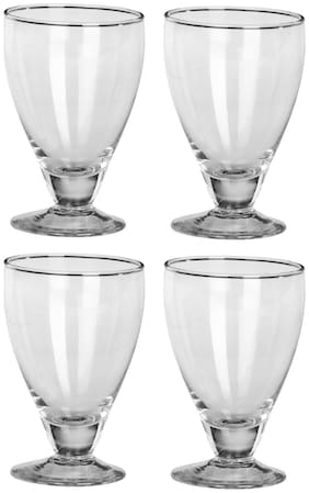 Somil Funky Big Boss Transparent Wine Glass Set Of 4