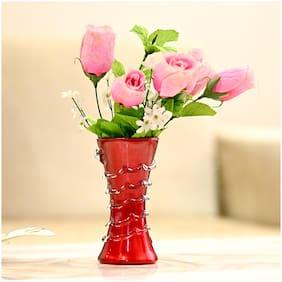 Somil Glass Flower vase ( Set of 1 )