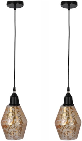Somil Hand Decorative Mozac Pendant Hanging Ceiling Lamp Light Ornamented With Chips & Beads For Magical Lighting (Set Of Two)AR-78