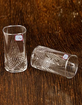 Somil Multi-Purpose Beaver Tumbler Drinking Glass Set for Home Use (Set Of 2)