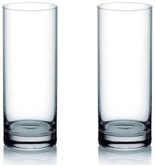 Somil Multi-Purpose Baverage Tumbler Drinking Glass Set for Home Use (Set Of 2)