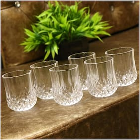 Somil Multi-Purpose Beaver Tumbler Drinking Glass Set For Home Use (Set Of 6 ) -Hu48