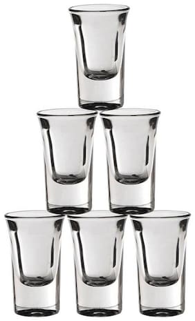 Somil Barware Shot Glass Set For Home & Bar Use ( Set Of 6)