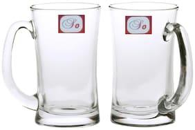 Somil New Bavrage Tumbler Pilsner Glass Beer Mug With Handle Set Of 2-BR10