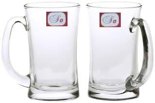 Somil New Bavrage Tumbler Pilsner Glass Beer Mug With Handle Set Of 2-BR10