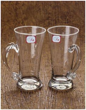 Somil New Bavrage Tumbler Pilsner Glass Beer Mug With Handle Set Of 2-BR02