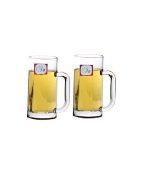 Somil New Bavrage Tumbler Pilsner Glass Beer Mug With Handle Set Of 2-BR05