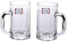 Somil New Bavrage Tumbler Pilsner Glass Beer Mug With Handle Set Of 2-BR04