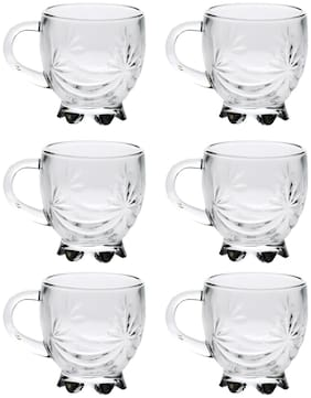 Somil New Design & Style Glass Tea Cup Set Of 6 Model No-b29