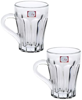 Somil New Design & Style Glass Tea Cup Set Of 2-Cp38