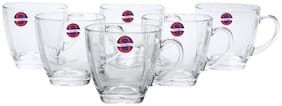 Somil New Design & Style Glass Tea Cup Set Of 6