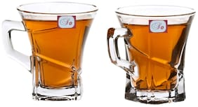Somil New Design & Style Glass Tea Cup Set Of 2-Cp41
