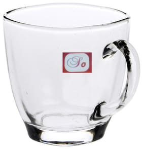 Somil New Design & Style Glass Tea Cup Set Of 2-Cp37