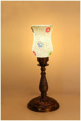 Somil New Designer Central Table Lamp With Colorful Glass Decorative With Colorful Beads & Chips & High Quality Stand AA13