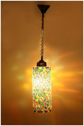 Somil New Launch Decorative Colorful Mozac Pendant Hanging Ceiling Lamp Ornamented With Colorful Chips & Beads With Magical Effects-17
