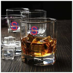 Somil New Stylish Transparent Drinking Glass (Set Of 4);Clear;250ml